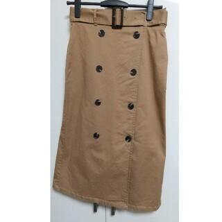 ジーユー(GU)のGU ベルト付きタイトスカート Lサイズ(ひざ丈スカート)