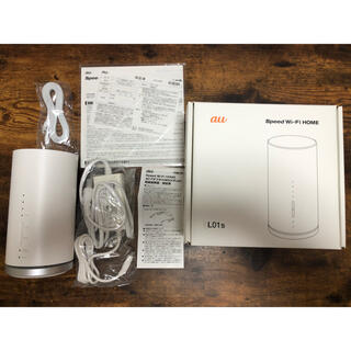 エーユー(au)のau ルーター Speed Wi-Fi HOME L01s(その他)