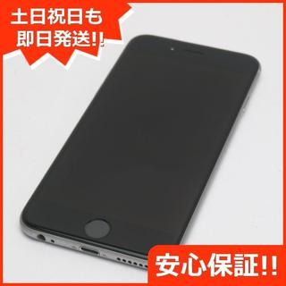 アイフォーン(iPhone)の美品 DoCoMo iPhone6 16GB スペースグレイ (スマートフォン本体)