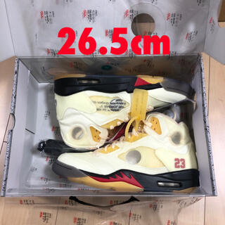 """ナイキ(NIKE)のOff-White × Nike Air Jordan5 """"Sail"""" 26.5(スニーカー)"""