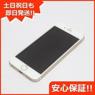 アイフォーン(iPhone)の美品 au iPhone6 128GB ゴールド 白ロム(スマートフォン本体)