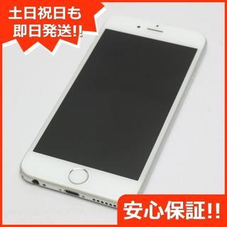 アイフォーン(iPhone)の良品中古 au iPhone6 128GB シルバー 白ロム(スマートフォン本体)