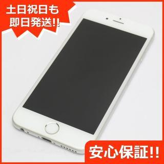 アイフォーン(iPhone)の美品 au iPhone6 128GB シルバー 白ロム(スマートフォン本体)