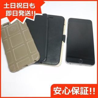 アイフォーン(iPhone)の美品 SIMフリー iPhone6S PLUS 128GB スペースグレイ (スマートフォン本体)
