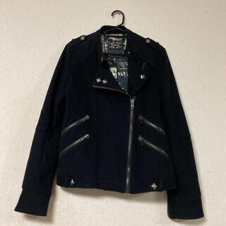 ムルーア(MURUA)のMURUA☆デザインライダースジャケット・コート(ライダースジャケット)