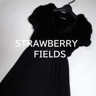 ストロベリーフィールズ(STRAWBERRY-FIELDS)の【送料込】◆STRAWBERRY-FIELDS◆ ブラック ファー ボレロ(毛皮/ファーコート)