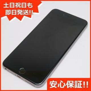 アイフォーン(iPhone)の美品 DoCoMo iPhone6 PLUS 64GB スペースグレイ (スマートフォン本体)