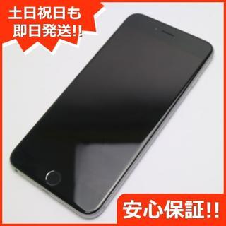 アイフォーン(iPhone)の美品 SIMフリー iPhone6 PLUS 16GB スペースグレイ (スマートフォン本体)