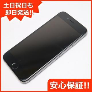 アイフォーン(iPhone)の美品 SIMフリー iPhone6 128GB スペースグレイ (スマートフォン本体)