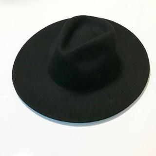 ザラ(ZARA)のZARAMAN メンズ ハット 帽子 黒 送料込(ハット)