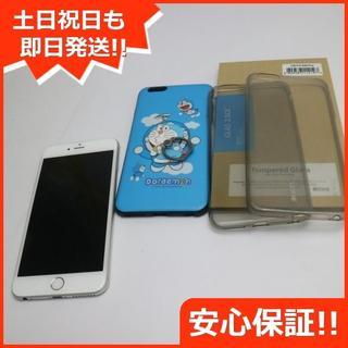 アイフォーン(iPhone)の美品 SIMフリー iPhone6 PLUS 16GB シルバー (スマートフォン本体)