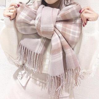 エブリン(evelyn)の身につけるだけで可愛いチェックストール♡ピンク♡リボンに結んだり♡羽織ったり♡(その他)