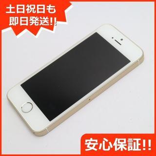 アイフォーン(iPhone)の美品 au iPhoneSE 64GB ゴールド 白ロム(スマートフォン本体)