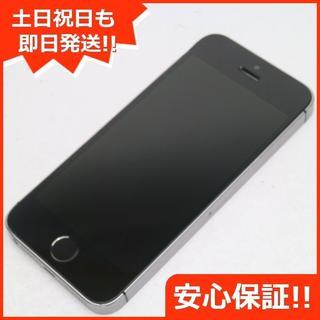 アイフォーン(iPhone)の良品中古 DoCoMo iPhoneSE 16GB スペースグレイ (スマートフォン本体)