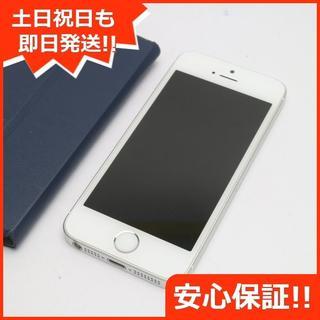 アイフォーン(iPhone)の美品 DoCoMo iPhoneSE 16GB シルバー 白ロム(スマートフォン本体)