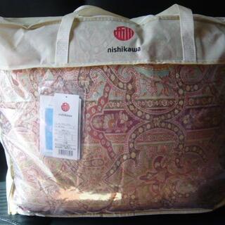 ニシカワ(西川)の新品 西川 羽毛掛け布団 シングル 日本製 ダウン90% 赤(布団)