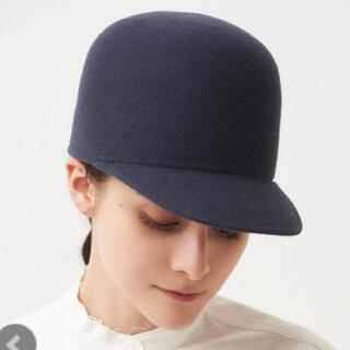 ドゥロワー(Drawer)のヨリ yori ハット 帽子 チャコールグレー 外村久美子さん着用(ハット)
