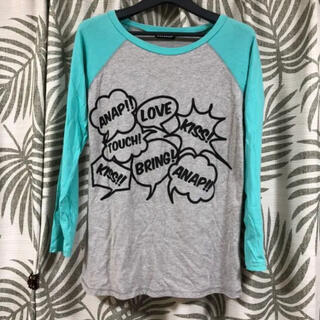 アナップ(ANAP)の美品です!ANAP ロゴデザイン ロンT レディースフリーサイズ(Tシャツ(長袖/七分))