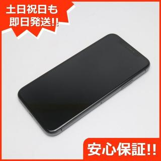 アイフォーン(iPhone)の美品 DoCoMo iPhoneX 64GB スペースグレイ 白ロム (スマートフォン本体)