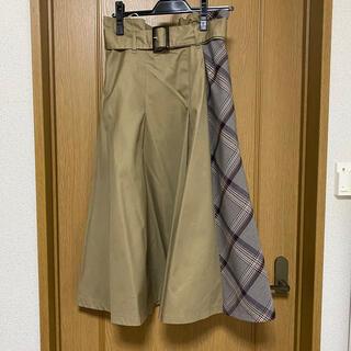 バーバリーブルーレーベル(BURBERRY BLUE LABEL)のトレンチスカート(ロングスカート)