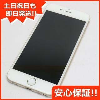 アイフォーン(iPhone)の美品 DoCoMo iPhone6 128GB ゴールド 白ロム(スマートフォン本体)