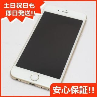 アイフォーン(iPhone)の美品 au iPhone6 64GB ゴールド 白ロム(スマートフォン本体)