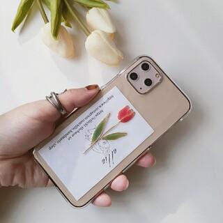チューリップiPhoneケース ハンドメイド 韓国(スマホケース)