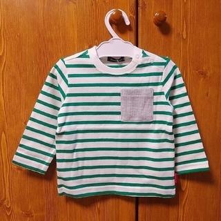 ムージョンジョン(mou jon jon)のmoujonjon ムージョンジョン ボーダー長袖Tシャツ 80 緑 グリーン(Tシャツ)