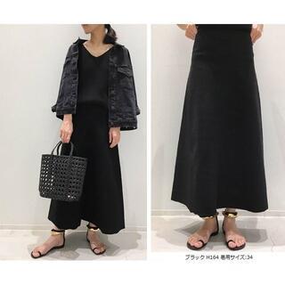 アパルトモンドゥーズィエムクラス(L'Appartement DEUXIEME CLASSE)の新品 アパルトモン Flare フレアスカート 黒 34(ロングスカート)