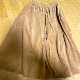 マザー(mother)のスウェードスカート(ひざ丈スカート)