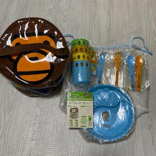 アベイシングエイプ(A BATHING APE)の【未使用品】BABYMILO プラ食器セット(食器)