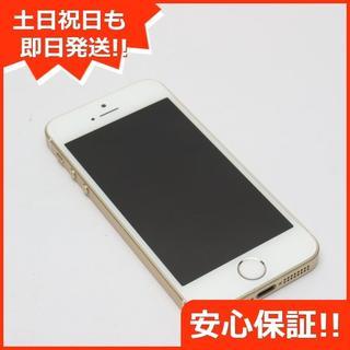 アイフォーン(iPhone)の良品中古 DoCoMo iPhoneSE 16GB ゴールド 白ロム(スマートフォン本体)