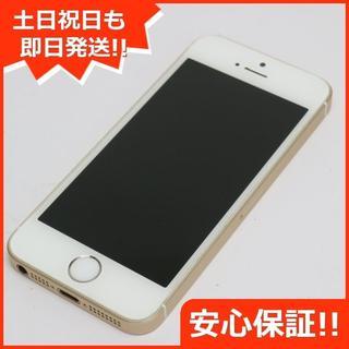 アイフォーン(iPhone)の美品 DoCoMo iPhoneSE 64GB ゴールド 白ロム(スマートフォン本体)