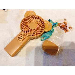 ダッフィー(ダッフィー)の香港ディズニー限定 ダッフィー ライトアップ扇風機 新品(扇風機)