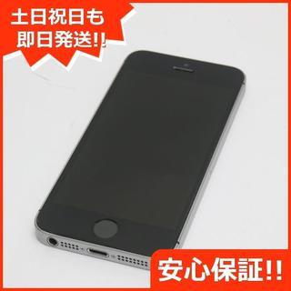 アイフォーン(iPhone)の良品中古 au iPhoneSE 16GB スペースグレイ 白ロム(スマートフォン本体)