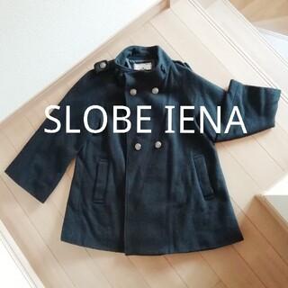 イエナスローブ(IENA SLOBE)のSLOBE IENA 黒 ウール コート Aラインコート ジャケット(ノーカラージャケット)