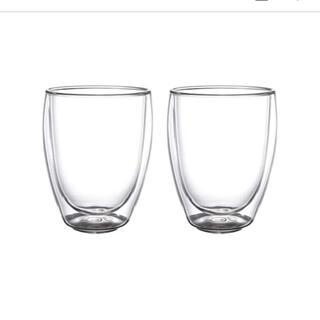 イケア(IKEA)のIKEA PASSERAD パッセラド 耐熱二重グラス イケア(グラス/カップ)