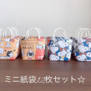 ハンドメイド☆ミニ紙袋12枚セット☆(カード/レター/ラッピング)