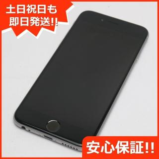 アイフォーン(iPhone)の美品 DoCoMo iPhone6 64GB スペースグレイ (スマートフォン本体)