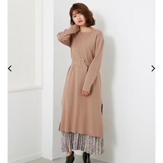 リエンダ(rienda)のrienda Pattern Pleats SET Knit OP(ロングワンピース/マキシワンピース)