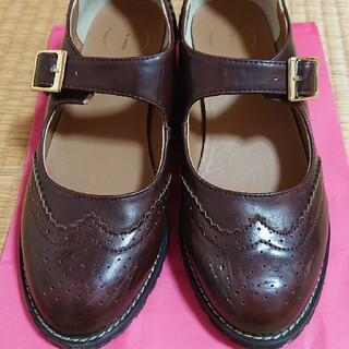 ハコ(haco!)のウィングチップシューズ(ローファー/革靴)