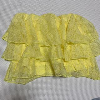グレイル(GRL)の黄色 チューブトップ(ベアトップ/チューブトップ)