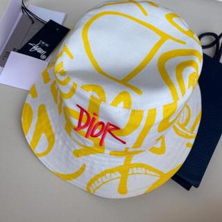 クリスチャンディオール(Christian Dior)のDIOR STUSSY ハット ボブハット バケットハット ディオール(ハット)