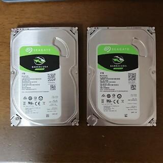 Seagate HDD 1tb 2つセット(バラ売り可)(PCパーツ)
