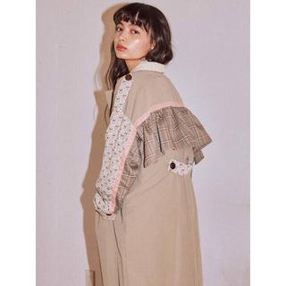 メリージェニー(merry jenny)のmerry jenny  patchwork trench coat(ロングコート)