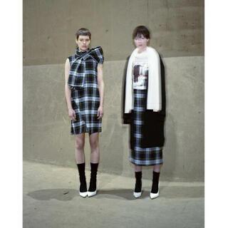 バーニーズニューヨーク(BARNEYS NEW YORK)のタロウホリウチ taro  horiuchi チェック スカート(ロングスカート)