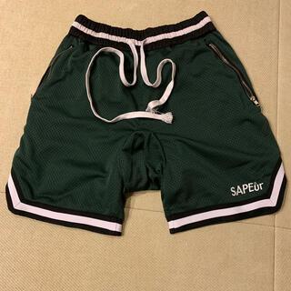 Supreme - sapeur バスケットショーツ ダークグリーン L