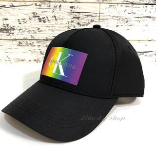 カルバンクライン(Calvin Klein)の【未使用】カルバンクライン  キャップ 黒 ブラック 帽子 調節可 CK ロゴ(キャップ)