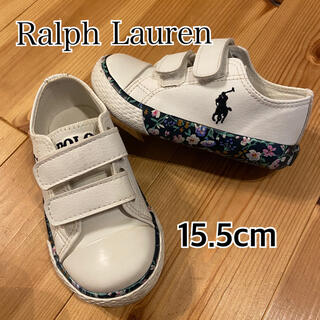 ラルフローレン(Ralph Lauren)の【美品】ラルフローレン 15.5cm ホワイト おしゃれさなスニーカー♡(スニーカー)