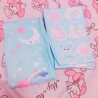 アンジェリックプリティー(Angelic Pretty)のDream Sky & Fancy Paper Dollsタイツセット/サックス(タイツ/ストッキング)